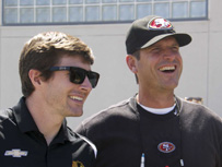 Panther Visit With Harbaugh, 49ers Gallery
